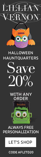 Halloween Treat Bags & Save 20% on entire order! Exp. 10/31. Use code AFLITD20
